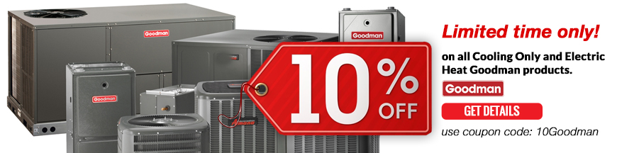 10 off AC goodman